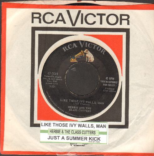Herbie & The Class Cutters - Just A Summer Kick/Like Those Ivy Walls, Man (with juke box label and vintage RCA company sleeve) - VG7/ - 45 rpm Records
