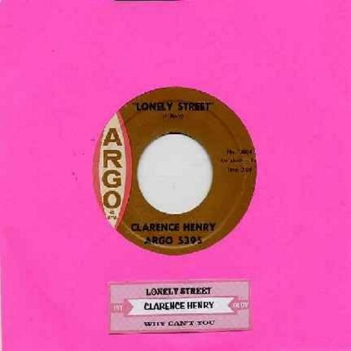 Henry, Clarence - Lonely Street/Why Can't You (with juke box label) - VG7/ - 45 rpm Records