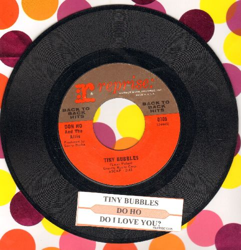Ho, Don - Tiny Bubbles/Do I Love You? (double-hit re-issue with juke box label) - NM9/ - 45 rpm Records