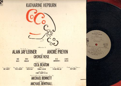 Hepburn, Katherine - Coco - Original Broadway Cast Recording (Vinyl STEREO LP record, gate-fold cover, MINT condition vinyl, small bottom right cover cut-out) - M10/VG7 - LP Records