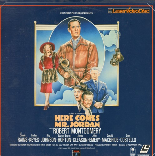 Here Comes Mr. Jordan - Here Comes Mr. Jordan - LASERDISC of the Fantasy Classic starring Robert Montgomery (this is a LASERDISC, not any other kind of media!) - NM9/EX8 - LaserDiscs