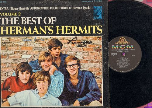 Herman's Hermits - The Best Of Herman's Hermits Volume 2: Listen People, Bus Stop, Dandy, For Your Love, A Must To Avoid (Vinyl STEREO LP record, sol, minor wol) - EX8/VG7 - LP Records