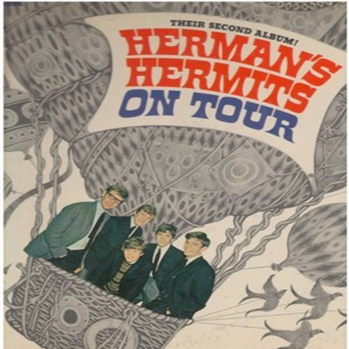 Herman's Hermits - On Tour: Can't You Hear My Heatbeat, I'm Henry VIII I Am, The End Of The World, For Your Love, Silhouettes, Heartbeat (Vinyl STEREO LP record) - EX8/VG7 - LP Records