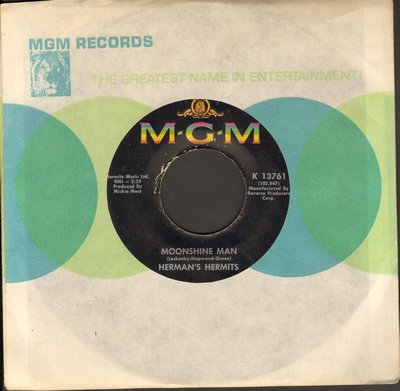 Herman's Hermits - Moonshine Man/Don't Go Out Into The Rain (You're Going To Melt) (with MGM company sleeve) - EX8/ - 45 rpm Records