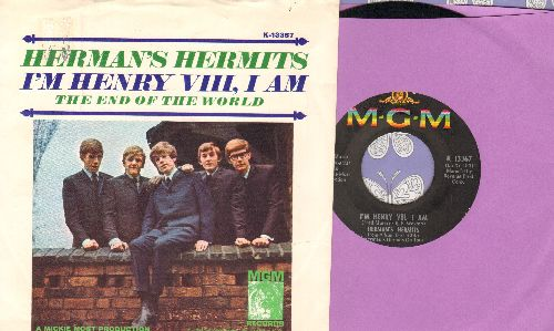 Herman's Hermits - I'm Henry VIII, I Am/The End Of The World (with picture sleeve) - NM9/EX8 - 45 rpm Records