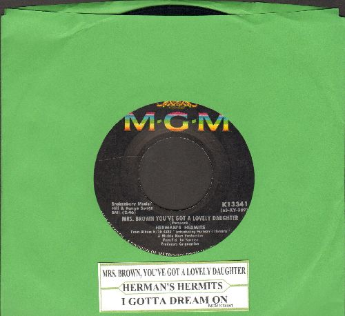 Herman's Hermits - Mrs. Brown, You've Got A Lovely Daughter/I Gotta Dream On (with juke bbox lanel) - EX8/ - 45 rpm Records