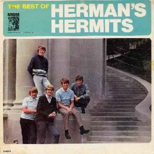 Herman's Hermits - The Best Of: I'm Henry VIII I Am, Mother-In Law, Silhouettes, Wonderful World, Sea Cruise (Vinyl MONO LP record, gate-fold cover) - VG7/VG7 - LP Records