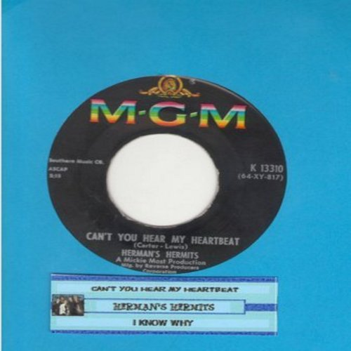 Herman's Hermits - Can't You Hear My Heartbeat/I Know Why (with juke box label) - VG7/ - 45 rpm Records