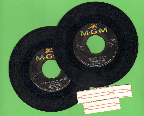 Herman's Hermits - 2 for 1 Special: Walking With My Angel/Mrs. Brown, You've Got A Lovely Daughter (2 vintage first issue 45rpm records with 3 blank juke box labels for the price of 1!) - EX8/ - 45 rpm Records