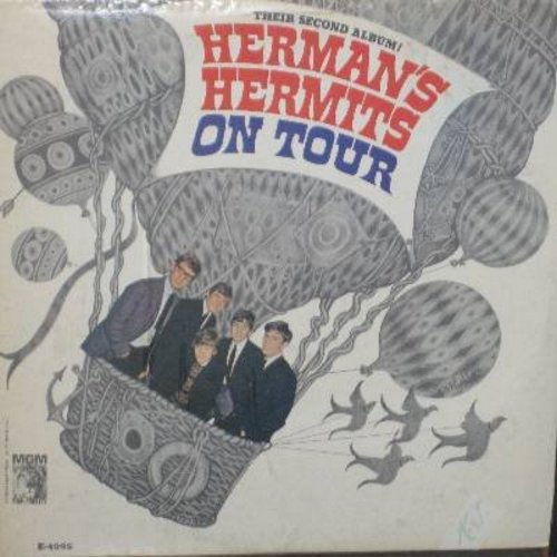 Herman's Hermits - On Tour: Can't You Hear My Heatbeat, I'm Henry VIII I Am, The End Of The World, For Your Love, Silhouettes, Heartbeat (vinyl MONO LP record) - VG7/VG6 - LP Records