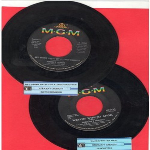 Herman's Hermits - 2 for 1 Special: Walking With My Angel/Mrs. Brown, You've Got A Lovely Daughter (2 vintage first issue 45rpm records with juke box labels for the price of 1!) - EX8/ - 45 rpm Records
