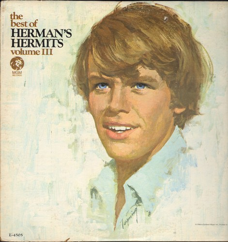 Herman's Hermits - Herman's Hermits Vol. III: There's A Kind Of Hush, No Milk Today, East West, Wings Of Love (Vinyl MONO LP record) - EX8/VG6 - LP Records
