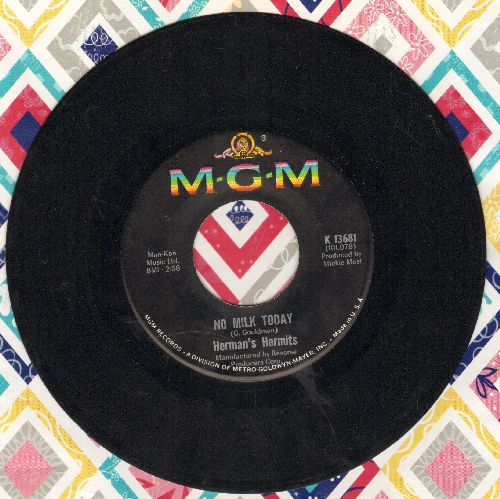 Herman's Hermits - There's A Kind Of Hush/No Milk Today - EX8/ - 45 rpm Records