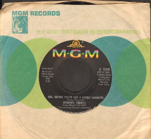 Herman's Hermits - Mrs. Brown, You've Got A Lovely Daughter/I Gotta Dream On (with MGM company sleeve) - EX8/ - 45 rpm Records