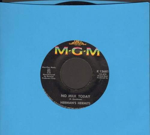 Herman's Hermits - There's A Kind Of Hush/No Milk Today (FANTASTIC flip-side - the ULTIMATE British Invasion Sound!)  - VG7/ - 45 rpm Records