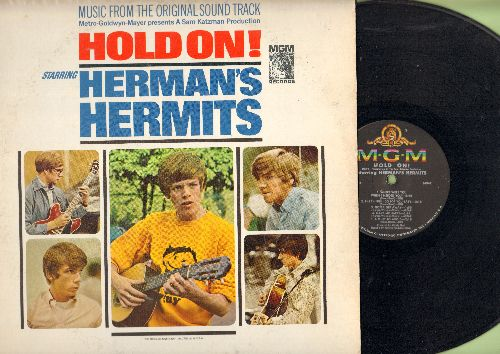 Herman's Hermits - Hold On!: Music from the original Sound Track incl. Leaning On The Lamp Post, A Must To Avoid, Make Me Happy (with Shelley Fabares) (Vinyl MONO LP record) - EX8/EX8 - LP Records