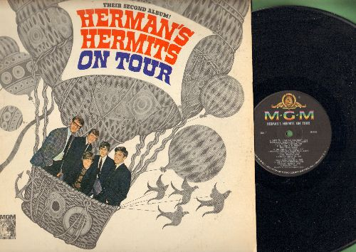Herman's Hermits - On Tour: Can't You Hear My Heatbeat, I'm Henry VIII I Am, The End Of The World, For Your Love, Silhouettes, Heartbeat (Vinyl MONO LP record) - EX8/EX8 - LP Records