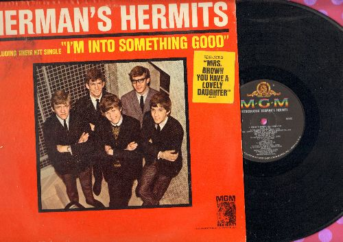 Herman's Hermits - Herman's Hermits: Mrs. Brown You've Got A Lovely Daughter, I'm Into Something Good, Sea Cruise, Mother-In-Law, Your Hand In Mine, Walkin' With My Angel (Vinyl MONO LP record) - EX8/EX8 - LP Records
