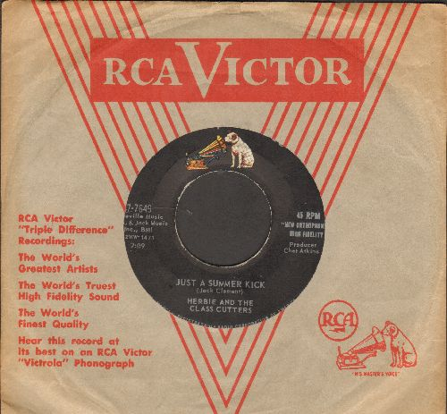 Herbie & The Class Cutters - Just A Summer Kick/Like Those Ivy Walls, Man (with vintage RCA company sleeve) - EX8/ - 45 rpm Records