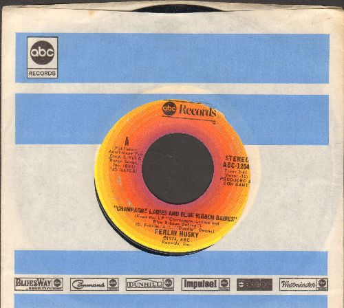 Husky, Ferlin - Champagne Ladies And Blue Ribbon Babies/I Feel Better All Over (with company sleeve) - EX8/ - 45 rpm Records