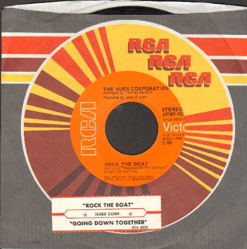 Hues Corporation - Rock The Boat/All Goin' Down Together (with juke box label and RCA company sleeve) - EX8/ - 45 rpm Records