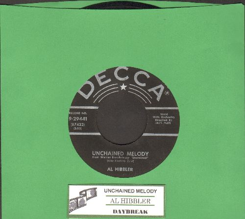 Hibbler, Al - Unchained Melody/Daybreak (star/lines first issue with juke box label) - VG7/ - 45 rpm Records