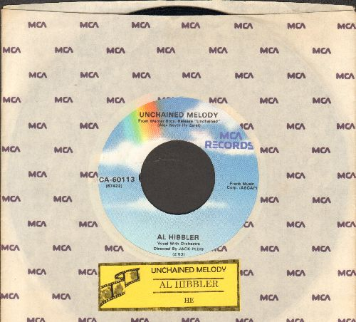 Hibbler, Al - Unchained Melody/He (re-issue with MCA company sleeve) - EX8/ - 45 rpm Records