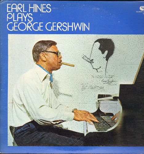 Hines, Earl - Earl Hines Plays Georg Gershwin: Rhapsody In Blue, Love Is Here To Stay, Summertime (2 vinyl LP records, 1977 issue, gate-fold cover) - NM9/EX8 - LP Records