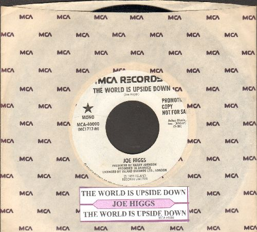 Higgs, Joe - The World Is Upside Down (double-A-sided DJ advance pressing with MONO and STEREO version, with juke box label and MCA company sleeve) - EX8/ - 45 rpm Records
