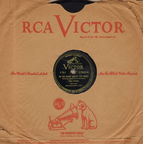Hines, Earl - On The Sunny Side Of The Street/My Melancholy Baby (10 inch 78rpm record with RCA company sleeve) - NM9/ - 78 rpm