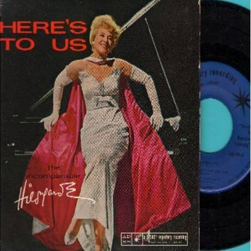 Hildegarde - Here's To Us: Alouette/Savoir-Faire/You Don't Say Yes (Vinyl EP record with picture cover, sung in French and English) - NM9/EX8 - 45 rpm Records