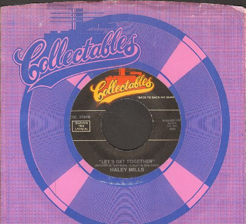 Mills, Hayley - Let's Get Together/Tall Paul (by Annette Funicello on flip-side) (re-issue with company sleeve) - NM9/ - 45 rpm Records