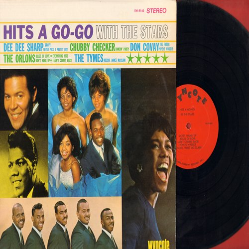 Checker, Chubby, Dee Dee Sharp, Orlons, Tymes, Don Covay - Hits A Go-Go With The Stars: Dancin' Party, Gravy, Don't Hang Up, Popeye Waddle (Vinyl STEREO LP record) - NM9/NM9 - LP Records