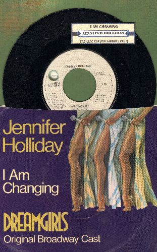 Holliday, Jennifer - I Am Changing/Cadillac Car (from Broadway Production -Dreamgirls-) (with picture sleeve and juke box label) - NM9/EX8 - 45 rpm Records