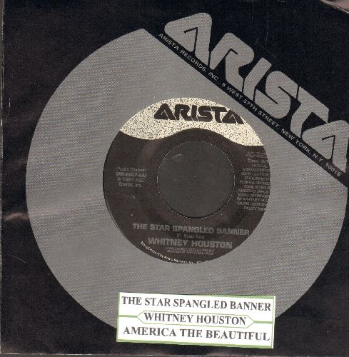 Houston, Whitney - America The Beautiful/The Star Spangled Banner - NM9/ - 45 rpm Records