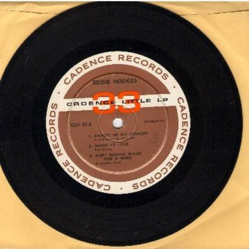 Hodges, Eddie - Bandit Of My Dreams/Made To Love/Ain't Gonna Wash For A Week/I'm Gonna Knock On Your Door/Mugmates/I Make Believe It's You (RARE 7 inch 33rpm Mini-LP with small spindle hole) - VG7/ - 45 rpm Records