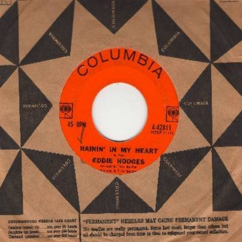 Hodges, Eddie - Rainin' In My Heart/Halfway (with Columbia company sleeve) - EX8/ - 45 rpm Records