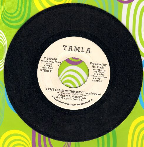 Houston, Thelma - Don't Leave Me This Way (double-A-sided DJ advance pressing) - NM9/ - 45 rpm Records