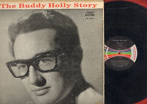 Holly, Buddy - The Buddy Holly Story: Peggy Sue, Maybe Baby, Everyday, That'll Be The Day, Heartbeat, Oh Boy (Vinyl MONO LP record, multicolor logo pressing) - VG7/VG6 - LP Records