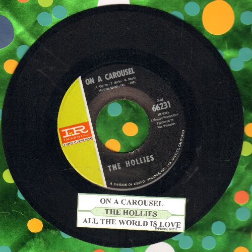 Hollies - On A Carousel/All The World Is Love (with juke box label) - NM9/ - 45 rpm Records