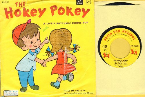 Marks, Jerry & Peter pan Orchestra & Chorus - The Hokey Pokey/Pony On The Merry-Go-Round (with picture sleeve) - EX8/VG6 - 45 rpm Records