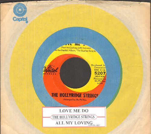 Hollyridge Strings - Love Me Do/All My Loving (with vintage Capitol company sleeve and juke box label) - EX8/ - 45 rpm Records