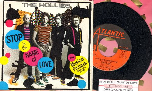 Hollies - Stop In The Name Of Love/Musical Pictures (with juke box label and picture sleeve) - NM9/EX8 - 45 rpm Records