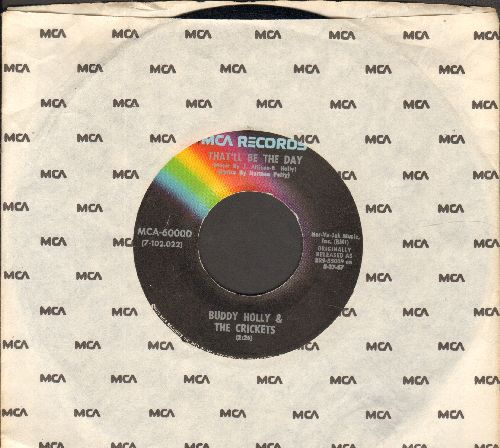 Holly, Buddy - That'll Be The Day/I'm Lookin' For Someone To Love (double-hit re-issue with MCA company sleeve) - EX8/ - 45 rpm Records
