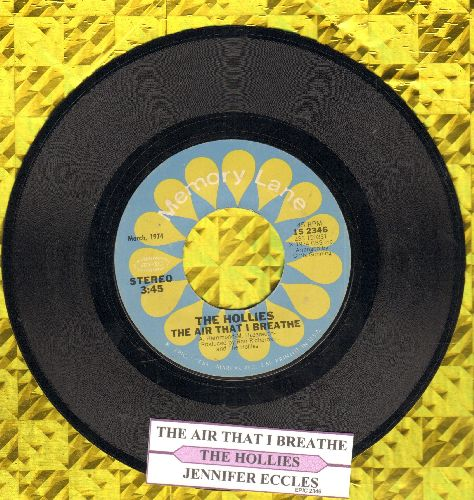 Hollies - Jennifer Eccles/The Air That I Breathe (double-hit re-issue with juke box label) - NM9/ - 45 rpm Records