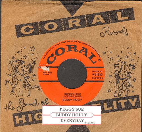 Holly, Buddy - Peggy Sue/Everyday (with Coral company sleeve and juke box label) - VG7/ - 45 rpm Records