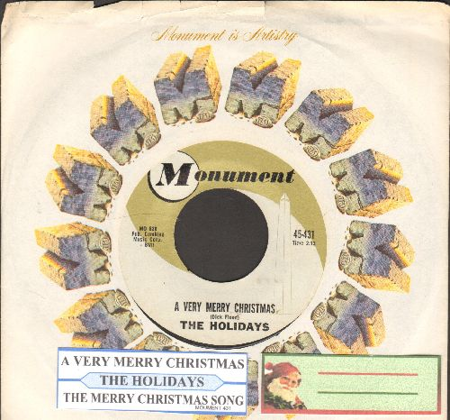 Holidays - A Very Merry Christmas/The Merry Christmas Song (with juke box label and Monument company sleeve) - EX8/ - 45 rpm Records