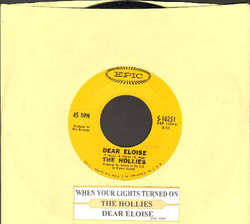 Hollies - Dear Eloise/When Your Lights Turned On (with juke box label) - EX8/ - 45 rpm Records