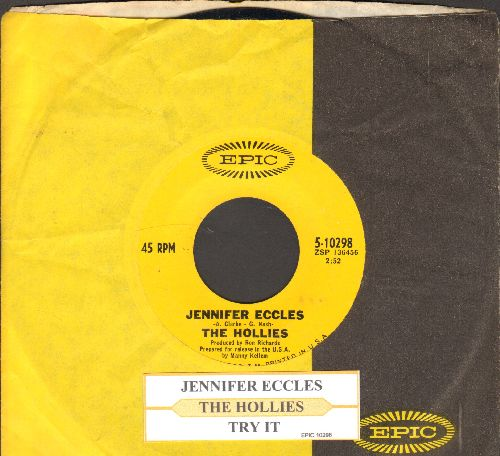 Hollies - Jennifer Eccles/Try It (with juke box label and Epic company sleeve) - NM9/ - 45 rpm Records