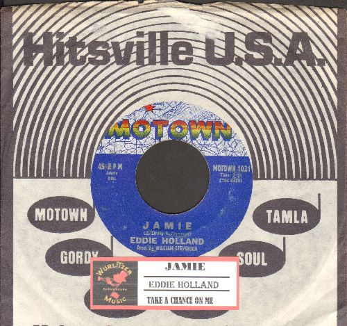 Holland, Eddie - Jamie/Take A Chance On Me (with RARE vintage Motown company sleeve)  - VG6/ - 45 rpm Records